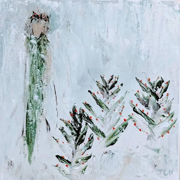 Painting - Winter Angel by Jennifer Nease