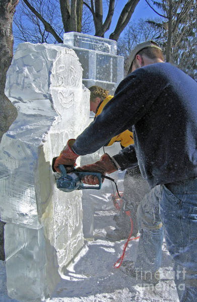 Ice Carving Photograph - Winter Art by Ann Horn