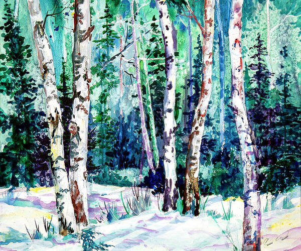 Painting - Winter Aspen by Connie Williams