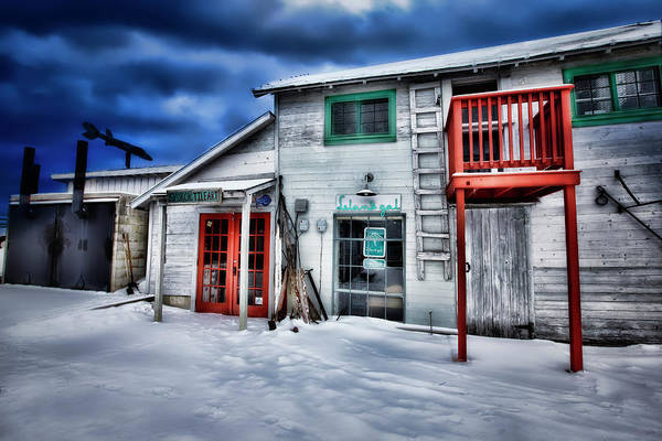 Photograph - Winter At Fishtown Michigan by Evie Carrier