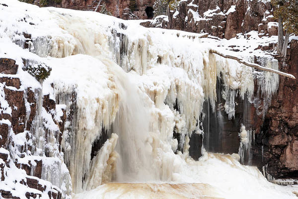 Photograph - Winter At Gooseberry Lower Falls by Susan Rissi Tregoning