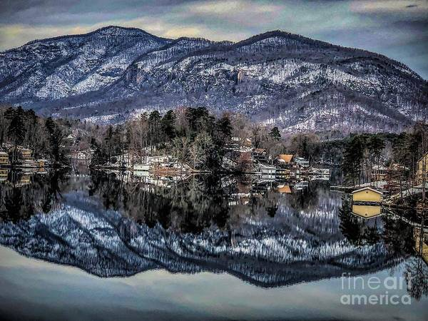 Photograph - Winter At Lake Lure 1 by Buddy Morrison