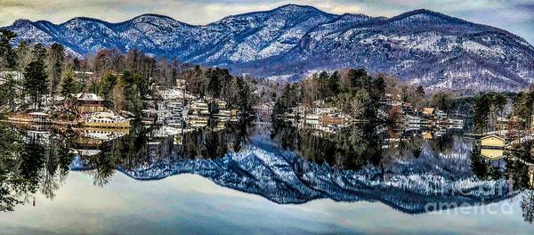 Photograph - Winter At Lake Lure Extended by Buddy Morrison