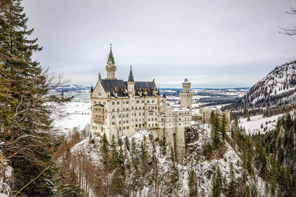 Photograph - Winter At Neuschwanstein Castle by M C Hood