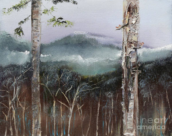 Painting - Winter At Pink Knob In Ellijay by Jan Dappen