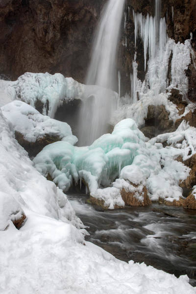 Photograph - Winter At Rifle Falls Colorado by Angela Moyer