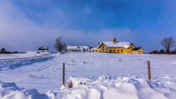 Photograph - Winter At The Farm by New England Photography