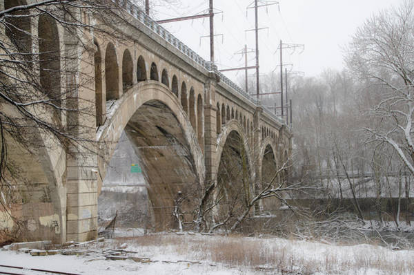 Wall Art - Photograph - Winter At The Manayunk Bridge by Bill Cannon
