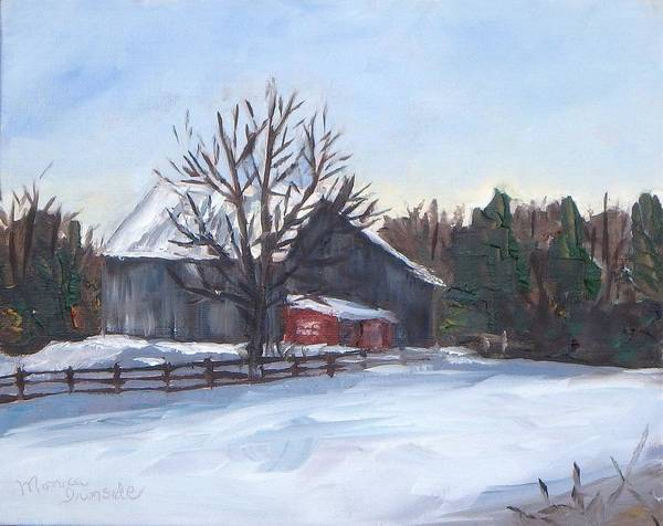 Painting - Winter Barn by Monica Ironside