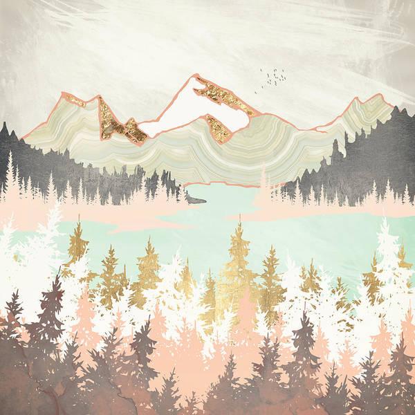 Wall Art - Digital Art - Winter Bay by Spacefrog Designs