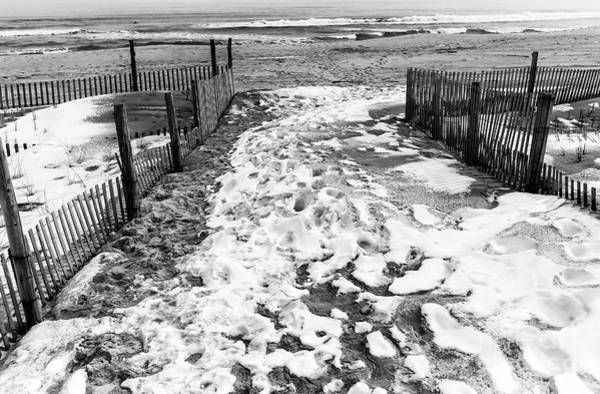 Photograph - Winter Beach Entry At Seaside Park by John Rizzuto