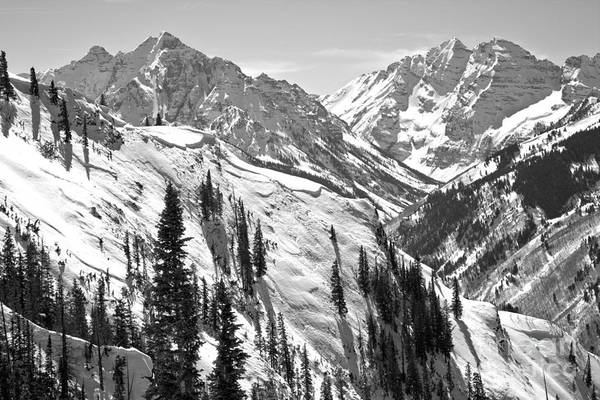Photograph - Winter Blue Skies Over The Bells Black And White by Adam Jewell