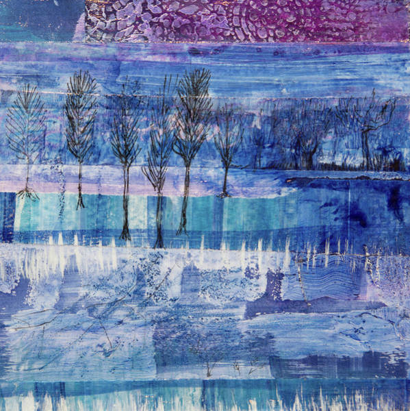 Mixed Media - Winter Blues 1 by Paper Jewels By Julia Malakoff
