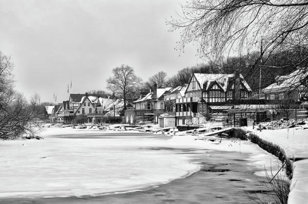 Photograph - Winter - Boathouse Row by Bill Cannon