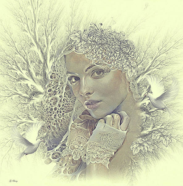Wall Art - Mixed Media - Winter Bride by G Berry