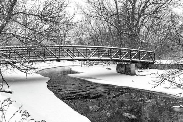 Wall Art - Photograph - Winter Bridge Bw by Steve Harrington