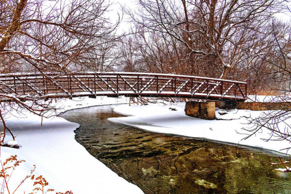 Wall Art - Photograph - Winter Bridge - Paint by Steve Harrington