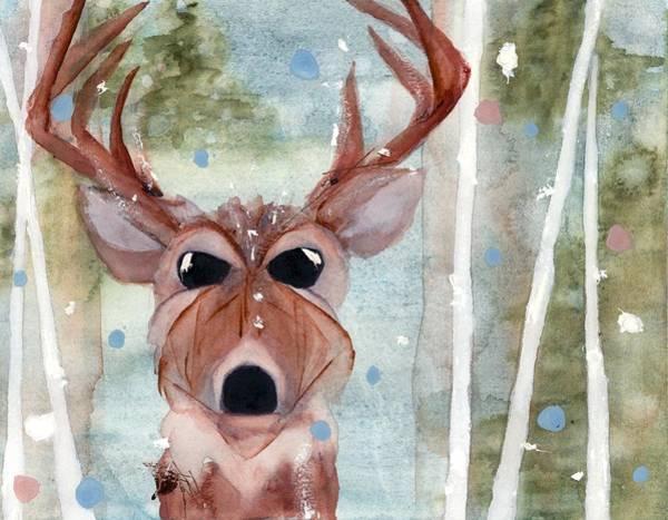 Painting - Winter Buck by Dawn Derman