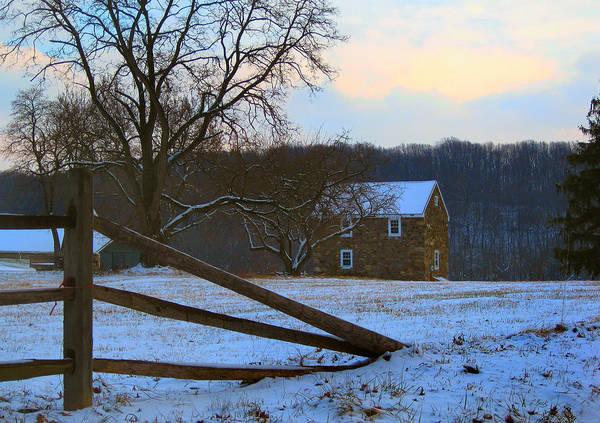 Farmstead Photograph - Winter Calm by Gordon Beck