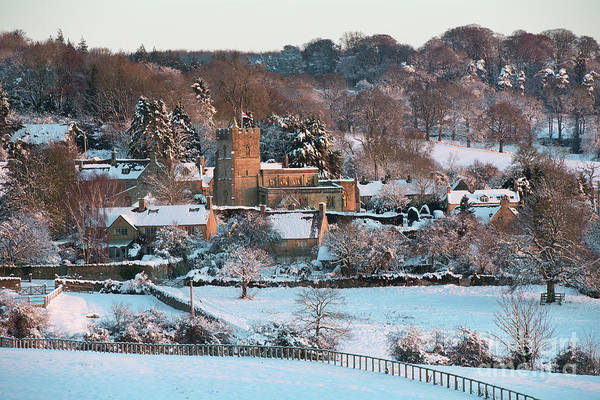 Photograph - Winter Church Bourton On The Hill  by Tim Gainey