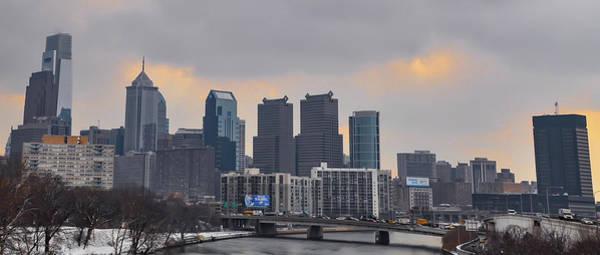 Photograph - Winter Cityscape - Philadelphia by Bill Cannon