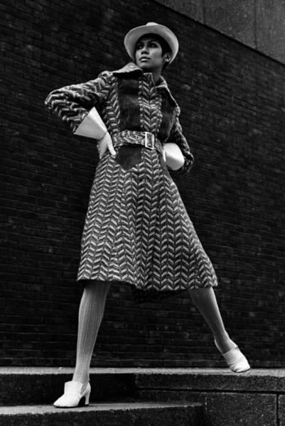 Fashion Model Photograph - Winter Coat by Evening Standard