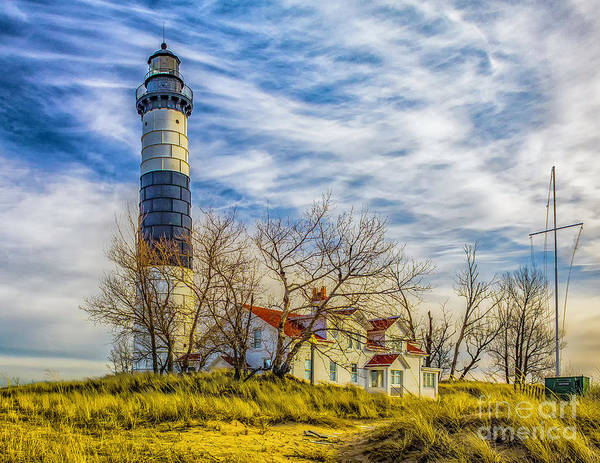 Photograph - Winter Day At Big Sable by Nick Zelinsky