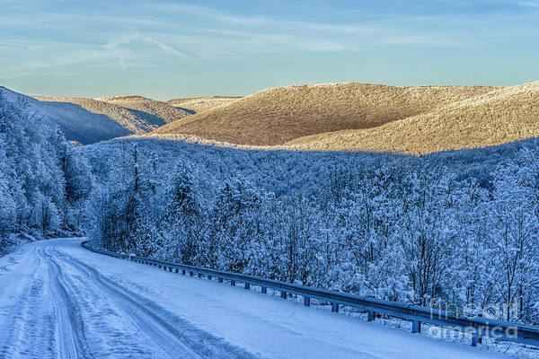 Photograph - Winter Drive Highland Scenic Highway by Thomas R Fletcher