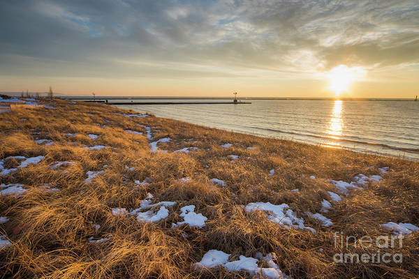Up North Wall Art - Photograph - Winter Dunegrass At Sunset by Twenty Two North Photography