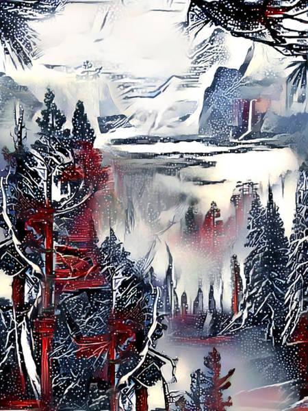 Wall Art - Digital Art - Winter Etude by Artly Studio