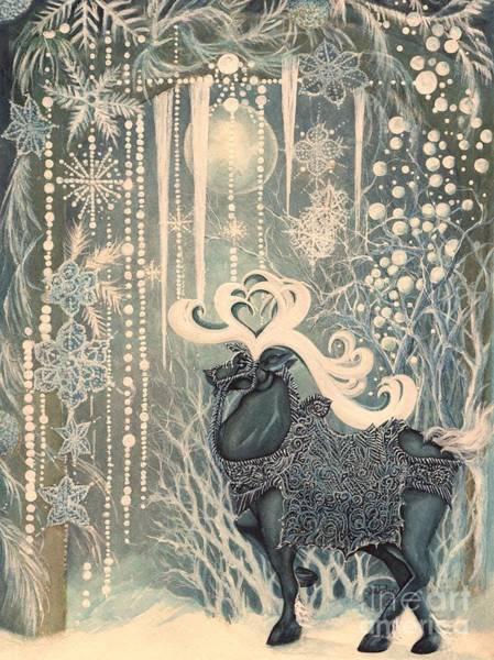 Celtic Mythology Wall Art - Painting - Winter  Fantasy by Janine Riley
