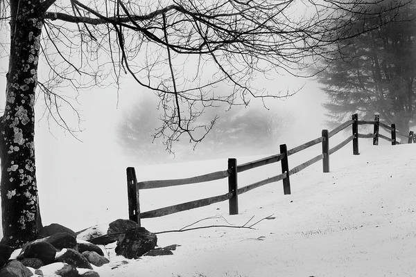 Photograph - Winter Fence by Bill Wakeley