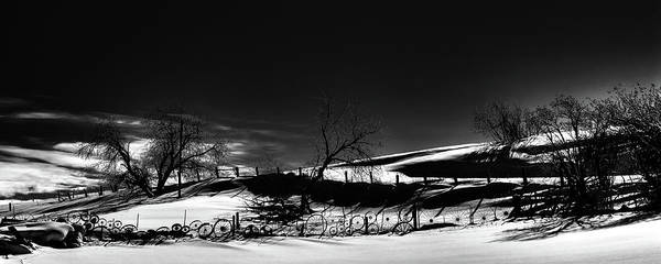 Photograph - Winter Fence Lines by David Patterson