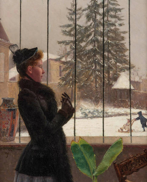 Wall Art - Painting - Winter Fun by Adolphe Demange
