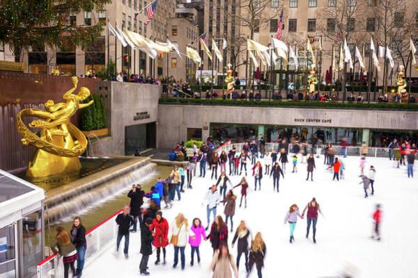 Photograph - Winter Fun At Rockefeller Center New York City by John Rizzuto
