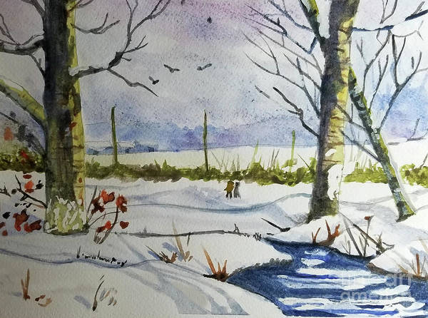 Wall Art - Painting - Winter Hike by Diane E Berry