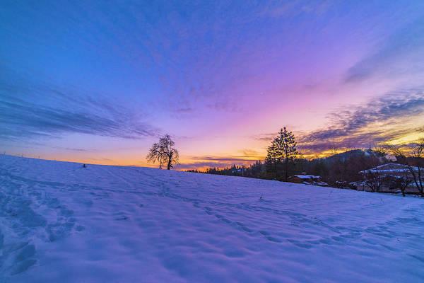 Photograph - Winter Hill At Sunset by Jonathan Hansen