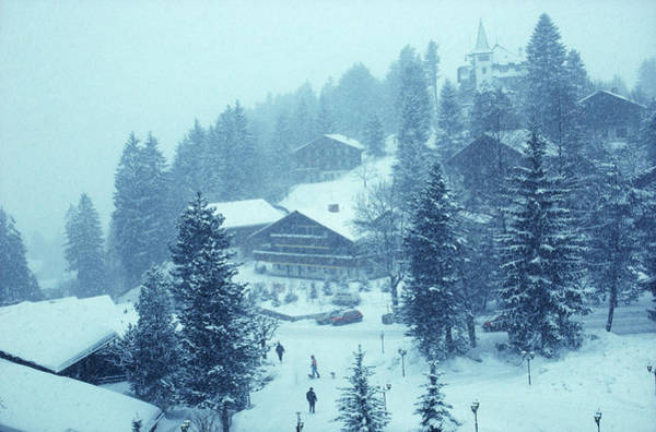 Horizontal Landscape Photograph - Winter In Gstaad by Slim Aarons