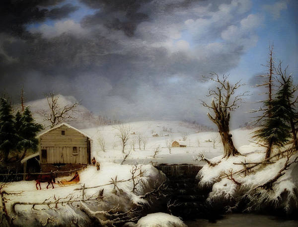Wall Art - Painting - Winter In New England by George Henry Durrie