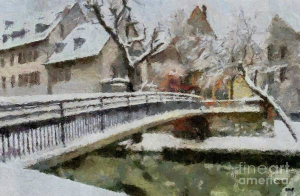Wall Art - Painting - Winter In Old Town by Dragica Micki Fortuna