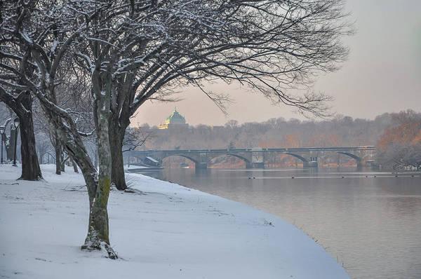 Photograph - Winter In Philadelphia - Schuylkill River by Bill Cannon