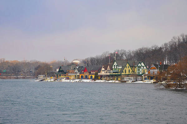 Photograph - Winter In Philly - Boathouse Row by Bill Cannon