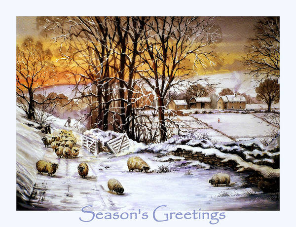 Wall Art - Painting - Winter In Ribble Valley  by Andrew Read