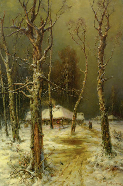 Russian River Painting - Winter In Russia by Yuli Yulievich Klever