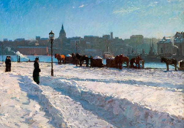 Bergstrom Painting - Winter In Stockholm by Alfred Bergstrom