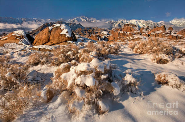 Photograph - Winter In The Alabama Hills Eastern Sierras California by Dave Welling