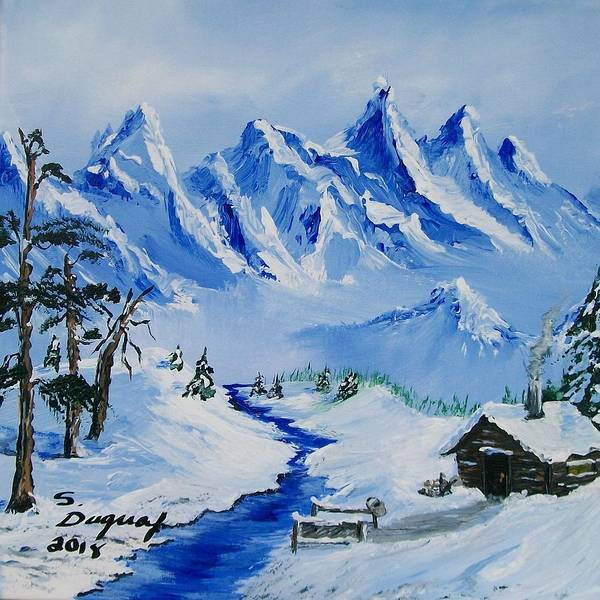 Painting - Winter In The Rockies by Sharon Duguay