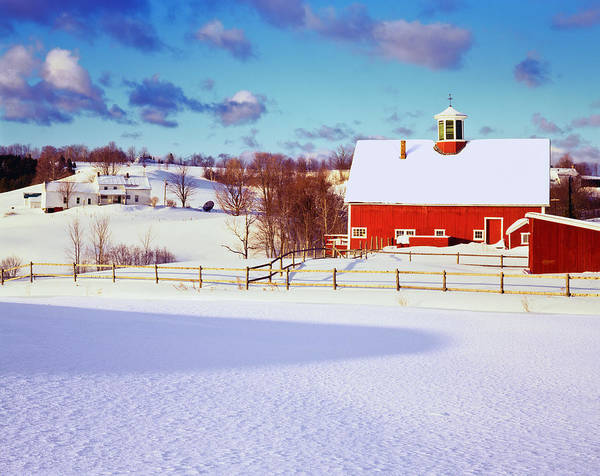 Vermont Photograph - Winter In The Vermont Country Side by Ron thomas