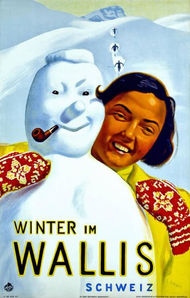 Wall Art - Digital Art - Winter In Valais by Long Shot