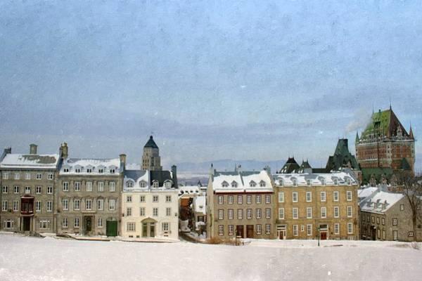 Quebec Photograph - Winter In Vieux-quebec by Marie-josée Lévesque